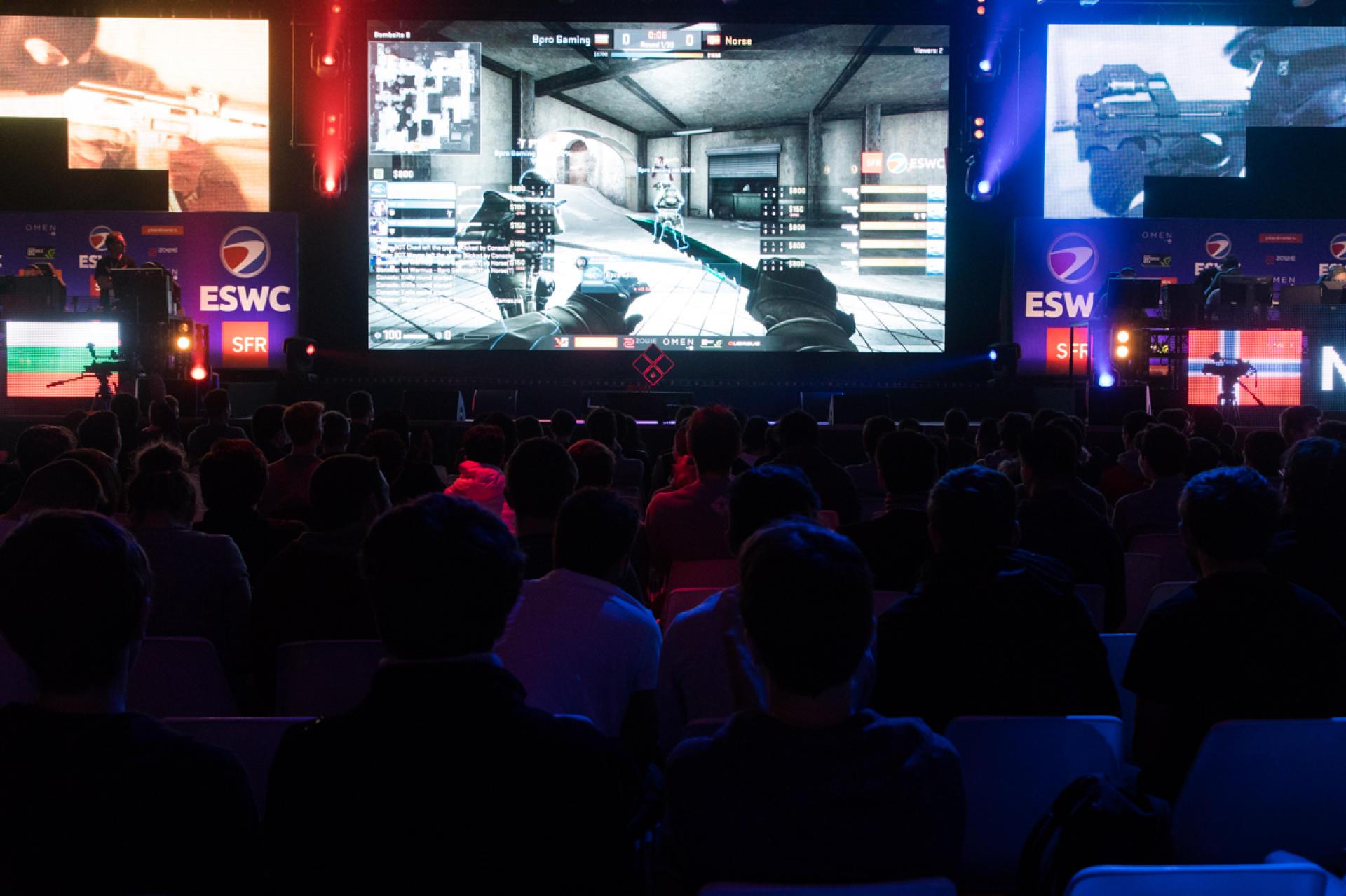 Un match de «Counterstrike» à la Paris Games Week, le 28 octobre.
