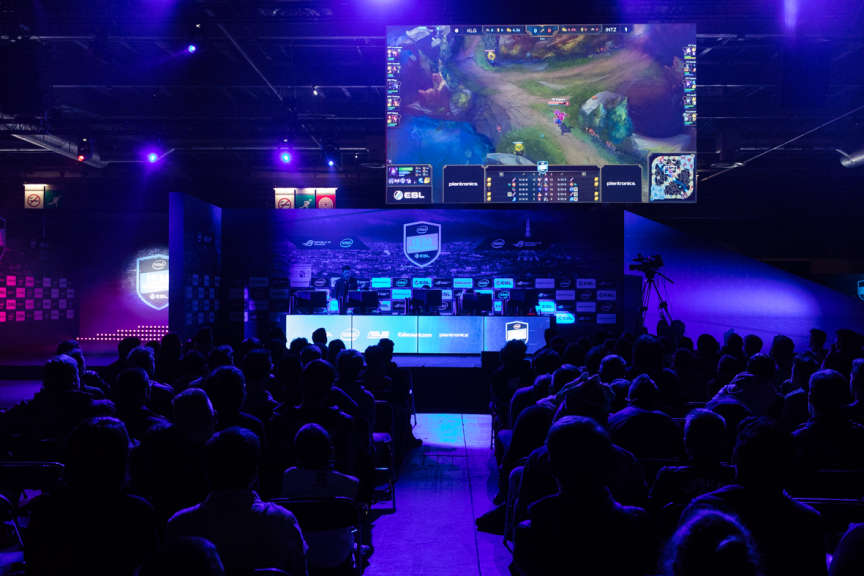 Le tournoi ESL de «League of Legends» à la Paris Games Week, le 28 octobre.