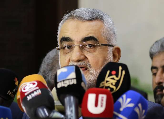 Alaeddin Boroujerdi, président de la commission des affaires étrangères et de la sécurité nationale du Parlement iranien, à Damas, le 3 août.