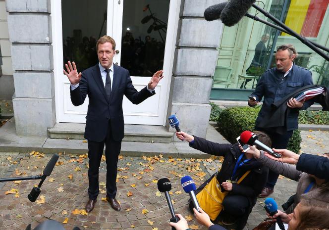 Le ministre-président de Wallonie, Paul Magnette, jeudi 27 octobre, à Bruxelles.