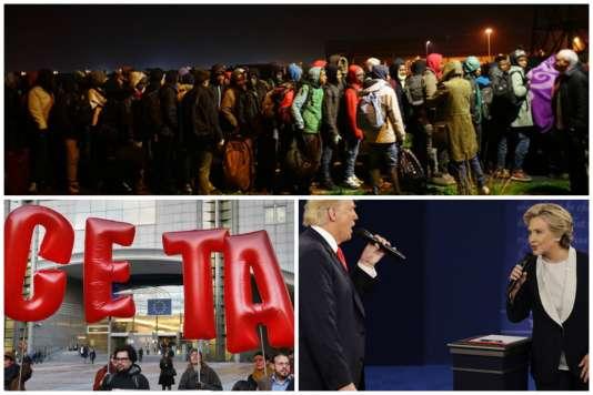 Evacuation de la «jungle» de Calais, accord belge sur le CETA et présidentielle américaine : l'actualité de la semaine