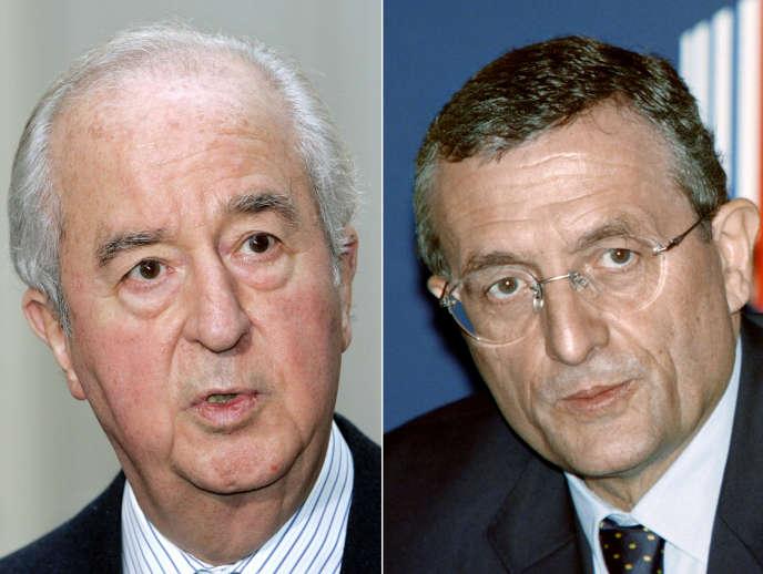 Edouard Balladur, le 19octobre2007, et François Léotard, le 4décembre1996.