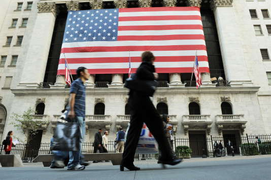Le New York Stock Exchange (NYSE), principale plateforme d'échanges de la Bourse de New York (États-Unis), le 14 octobre 2008.