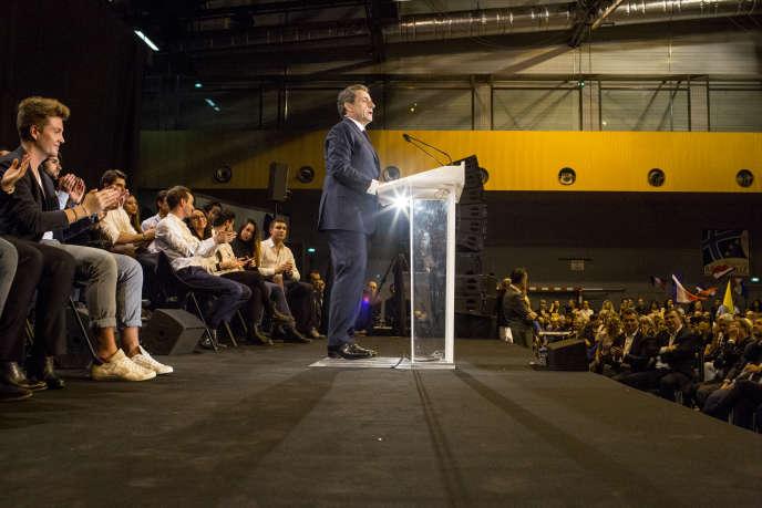 Nicolas Sarkozy en meeting à Marseille, le 27 octobre.