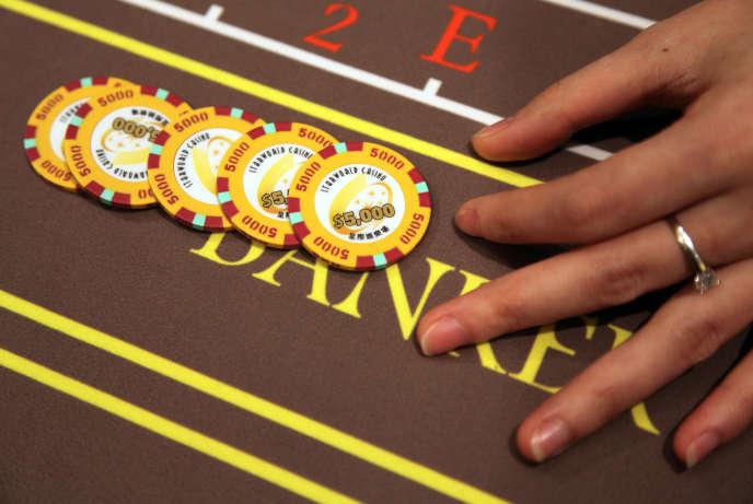 Dans le casino Galaxy à Macao, en Chine.