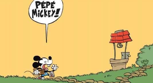 «La Jeunesse de Mickey», de Tébo.
