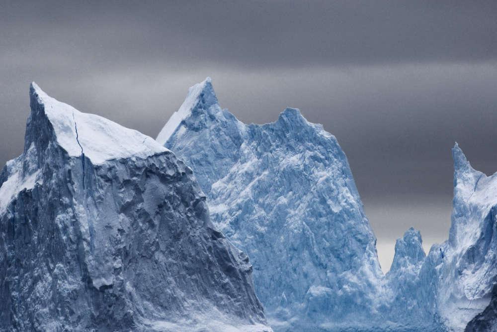 Icebergs au milieu de la mer de Ross.