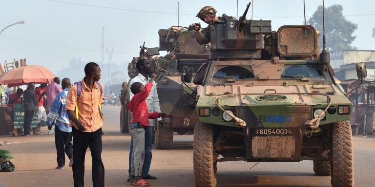 Des soldats français de l'opération « Sangaris» à Bangui en février 2016.