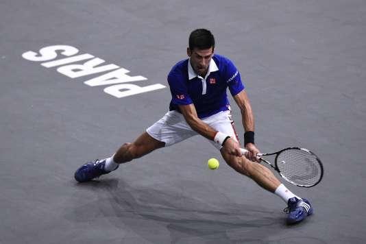 Novak Djokovic, le 8 novembre 2015 à Bercy.