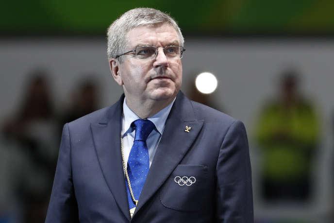 Thomas Bach, président du Comité international olympique, lors des Jeux de Rio.