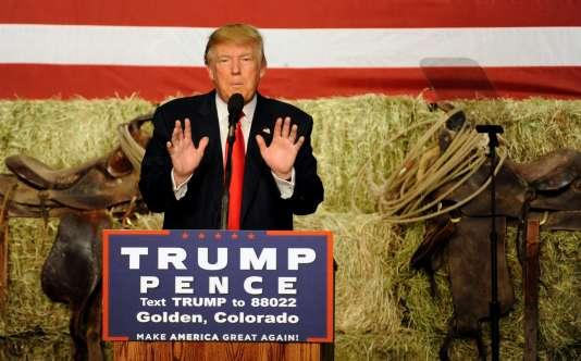 Donald Trump lors d'un meeting à Golden, Colorado, le 29 octobre.