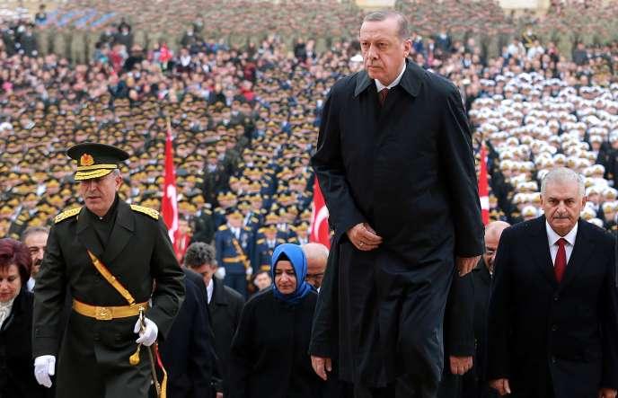 Recep Tayyip Erdogan, à Ankara , le 29 octobre