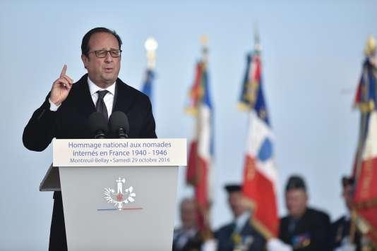 François Hollande a reconnu samedi 29 octobre la responsabilité de la France dans l'internement de milliers de Tsiganes pendant la seconde guerre mondiale.