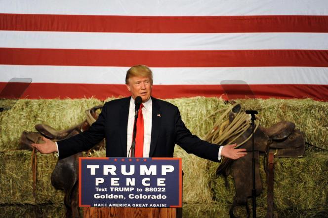 Le candidat républicain, Donald Trump, de retour dans le Colorado, le 29 octobre.