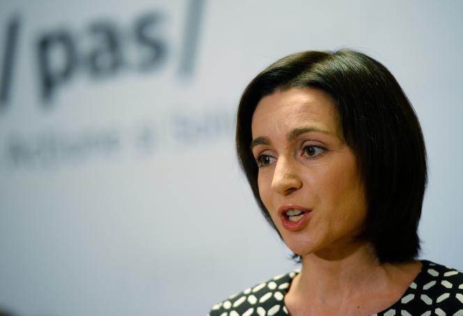 La candidate à l'élection présidentielle Maia Sandu, le 30 octobre à Chisinau.