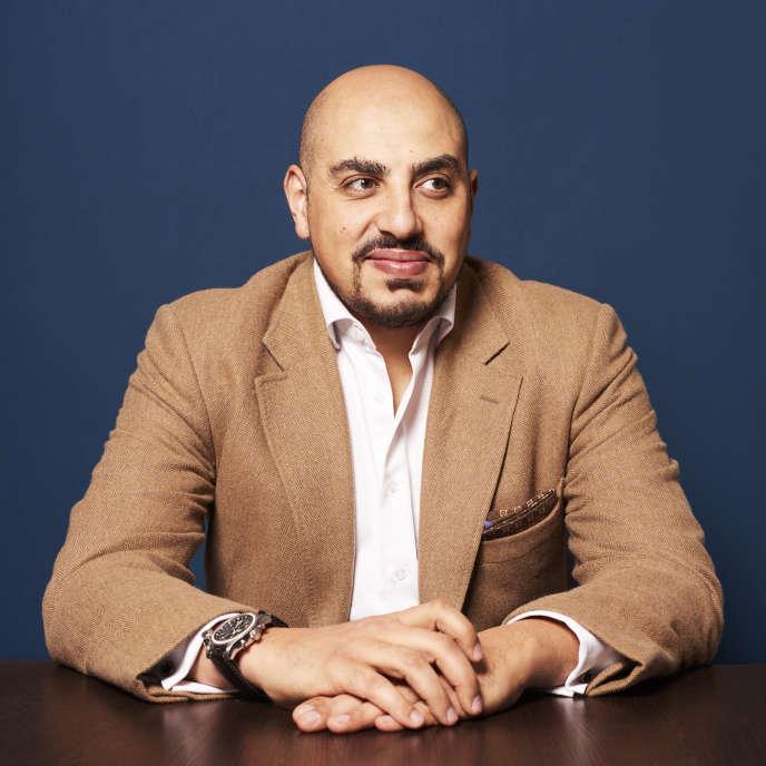 Marwan Muhammad, à la mairie de Saint-Ouen (Seine-Saint-Denis), le 18 octobre.