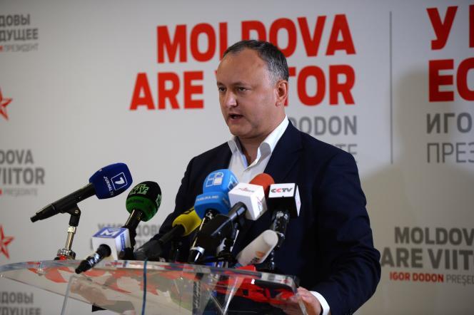 Le candidat à l'élection présidentielle moldave Igor Dodon, le 30 octobre.