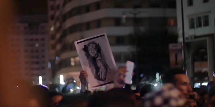 Manifestation à Casablanca le 30 octobre 2016 en hommage à Mouhcine Fikri mort le 28 octobre 2016 broyé par une benne à ordures.