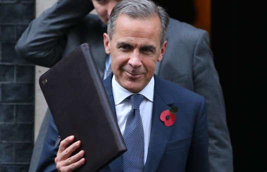 Le gouverneur de la Banque d'Angleterre, Mark Carney, lundi 31 octobre, à Londres.