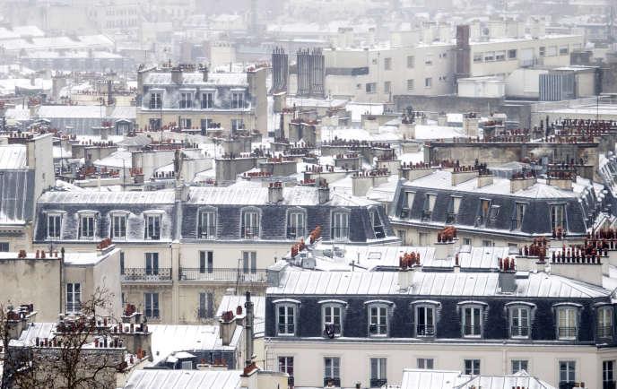 Paris sous la neige, le 12 mars 2013.