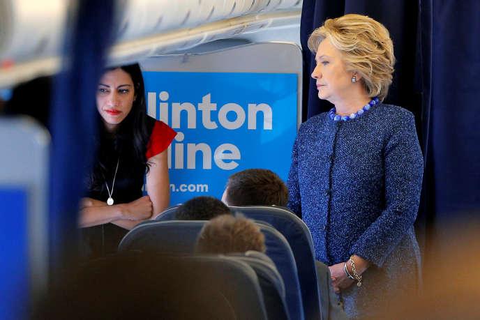 Hillary Clinton et Huma Abedin, le 28 octobre.