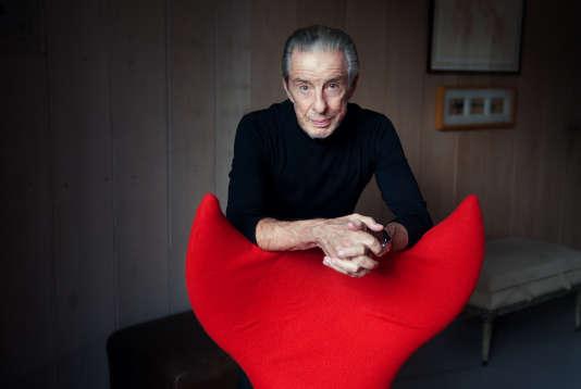 Jean-Louis Servan-Schreiber, chez lui à Paris, le 13 septembre 2016.
