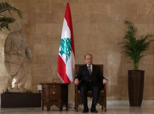 Michel Aoun, le 31 octobre à Beyrouth.