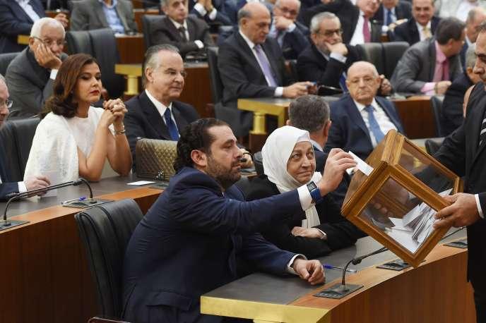 Saad Hariri au Parlement libanais.