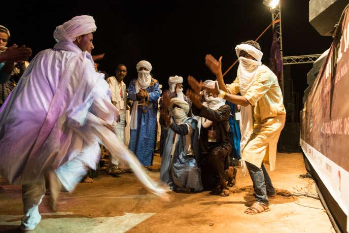 Lors du Festival Taragalte à M'Hamid El Ghizlane (Maroc), le 29 octobre 2016.