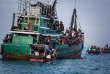 Un bateau de réfugiés, le 20 mai 2015.