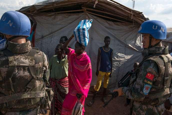Des casques bleus à Juba, le 3 septembre 2016.