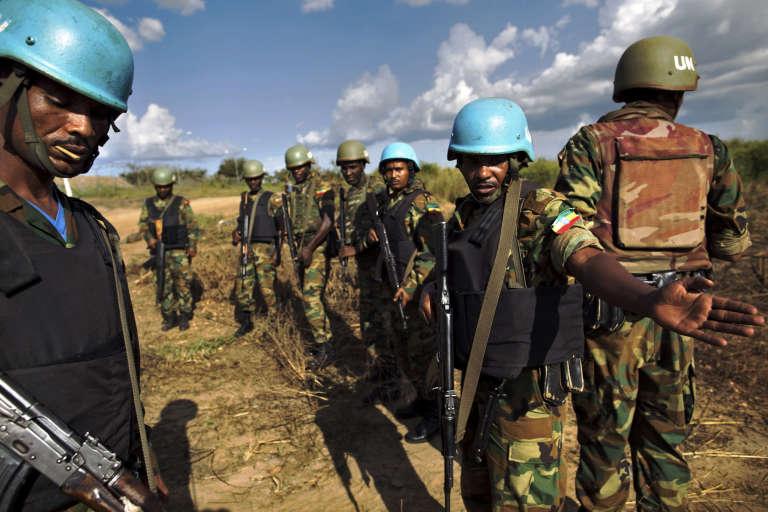 Des forces éthiopiennes de la Minuss patrouillent à Juba.