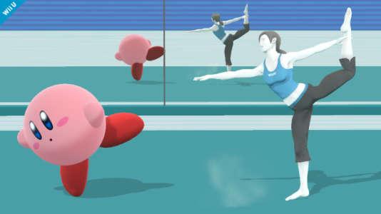 L'entraîneuse de Wii Fit, à droite, est devenu un personnage à part entière de la galaxie Nintendo.