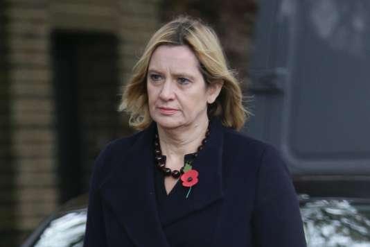 Amber Rudd, ministre britannique de l'intérieur, le 1er novembre, à Londres.