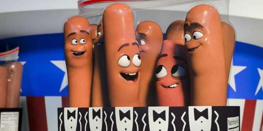 Image du film d'animation américain deConrad Vernon et Greg Tiernan,« Sausage Party», sorti en salles mercredi30novembre2016.