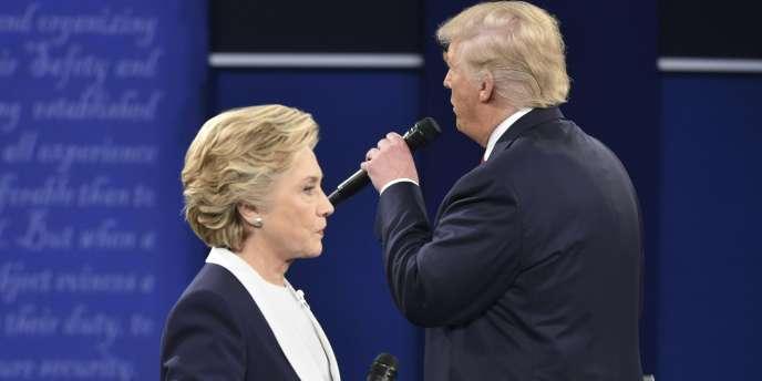 Hillary Clinton et Donald Trump, tous deux candidats à la présidence des Etats-Unis.