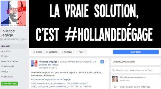 La page Facebook «Hollande Dégage»