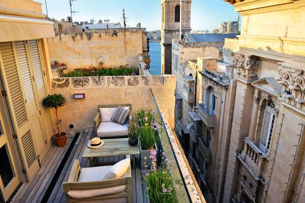 Casa Ellul à La Valette sur l'île de Malte.