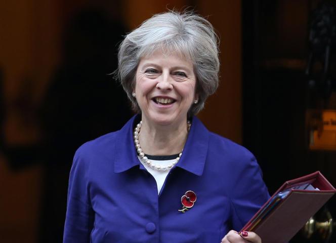 Theresa May, le 2 novembre à Londres.