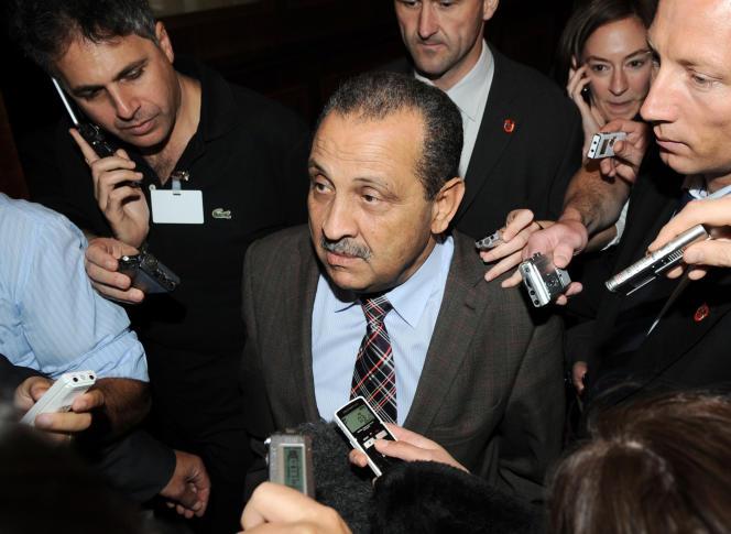 Choukri Ghanem, alors ministre du pétrole libyen, lors d'un sommet de l'OPEP, à Vienne, en mai 2009.