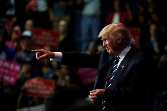 Donald Trump lors d'un meeting àEau Claire, dans le Wisconsin le 1er novembre 2016.