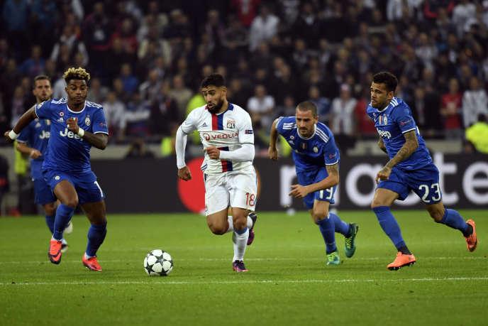 Nabil Fekir et Lyon jouent sur la pelouse de la Juventus Turin mercredi soir.