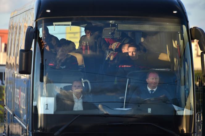 Dans les bus en partance de Calais, le 2 novembre.