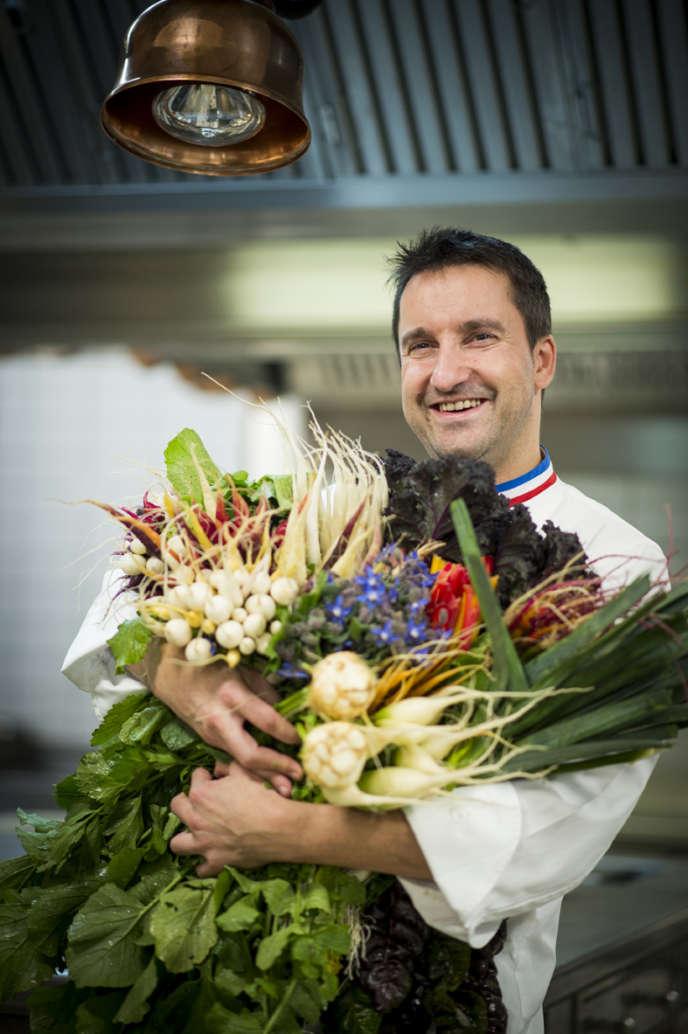 Le chef Philippe Mille a su vaincre les réticences des producteurs champenois.