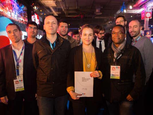 Axelle Lemaire à la soirée d'inauguration de la Paris Games Week, mercredi 26 octobre.