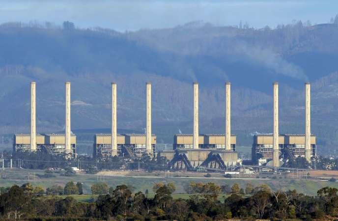 La centrale à charbon d'Hazelwood, dans l'Etat de Victoria en Australie, en 2009.
