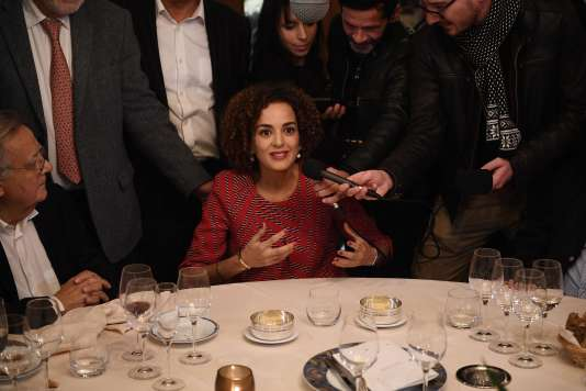 Leïla Slimani a reçu le prix Goncourt, jeudi 3 novembre, à Paris.