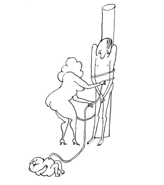 Extrait de «Pensées secrètes», de Tomi Ungerer© 1968 BY DIOGENES VERLAG AG ZÜRICH FIRST PUBLISHED IN 1964 BY THE VIKING PRESS, INC., NEW YORK