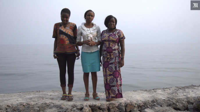 Grace Kabera, Claudia Chuma et Phoibe Kahambu, militantes de la Lucha.