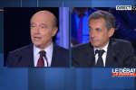 Alain Juppé et Nicolas Sarkozy lors du dernier débat de la primaire à droite, jeudi 3 novembre 2016.
